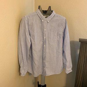 Gap Striped Boyfriend Fit Shirt